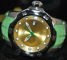 Invicta Mens Rare Venom Sea Dragon Automatic Gold Dial Green Poly Watch 19315