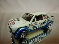 SOLIDO 54 KIT built FIAT ABARTH 131 RALLYE - OFF WHITE 1:43 - NICE CONDITION