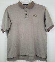 VTG NIKE GOLF Mens XL Abstract POLO Shirt FUNKY Print Embroidered Brown