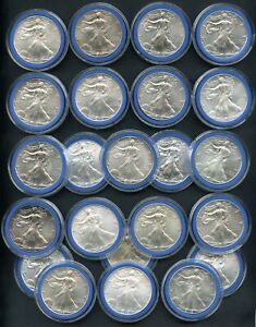 Lot of (23) Silver Eagle Dollar 1oz $1 Coins (Years 2000 - 2021)