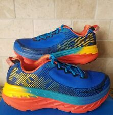 HOKA ONE ONE BONDI 5 BLUE RED ORANGE GOLD FUSION RUNNING TRAIL SHOES US 7 MENS