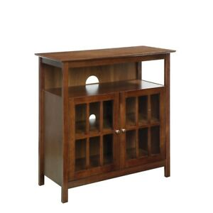 Convenience Concepts Big Sur Highboy TV Stand, Dark Walnut - 8066070DWN