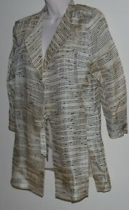 Blooms by Sylvia Dove lightweight silk jacket Size 12