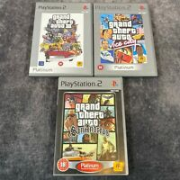 Grand Theft Auto III Vice City San Andreas PS2 PlayStation 2 Game Bundle x3