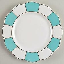 NEW CYNTHIA ROWLEY BLUE/WHITE PORCELAIN SALAD PLATES SET OF 4