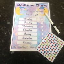 bedtime sleep in own bed themed reward chart kids reward chart purple