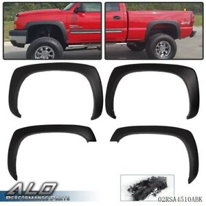 GMC Style Wheel Fenders Flare Truck Accessories Style Fender Flare Set Fender Flares for Chevy Silverado Sierra