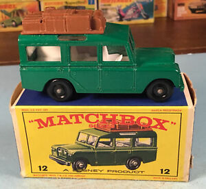 Vintage Matchbox Lesney No. 12 Land Rover Safari Car In Box