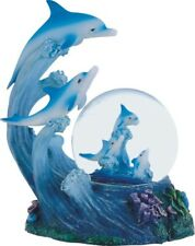 Dolphins Jumping Out of the Water Water Globe Decoration Snow Globe Sea Life New