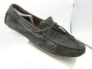 Frye 3485223-CCL Sz 10.5 D Grey/Black Suede Moccasin Driving Loafer  Mens Shoes