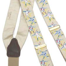 ROMULUS 1991 Baseball Sports Vintage Gentlemans Silk Suspenders Braces