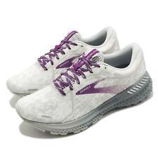 Brooks Adrenaline GTS 21 Abstract White Grey Women Road Running Shoe 1203291B134