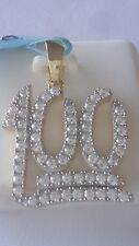 Gold plated .925 STERLING SILVER Micropave Iced Fancy   # 100   Pendant