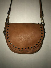 CATO  BROWN PEBBLED WITH GOLD STUDS CROSS BODY PURSE BAG