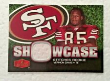 2006 Fleer Flair Showcase Stiches ROOKIE JERSEY   Vernon Davis  49ers Redskins