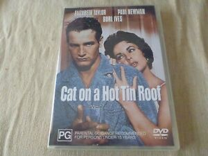 Cat On A Hot Tin Roof (DVD, 2001) Region 4 DOUBLE SIDED DISC Elizabeth Taylor