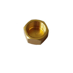 """3/8"""" BSPP Hex Head Female Cap Fitting Connector  Brsss Pipe Fitting"""