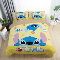 Lilo&Stitch Bedding Sets Queen Twin Full Size Comforter Cover Set Pillow Cases