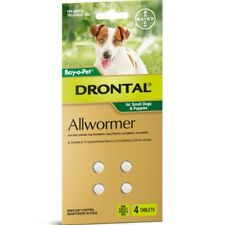 Drontal Allwormer Tablets for Dogs 3kg 4 tablets Dog Dogs Pet Pets