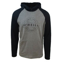 O'Neill Men's Two Tone Black & Grey L/S Lightweight Hoodie