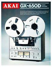 Akai GX-650D vintage reel-to-reel deck b&w PAPER COPY of the very rare brochure
