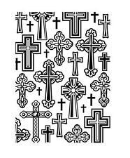 4.25 x 5.75 Darice Embossing Folder CROSS BACKGROUND Holidays Communion 1219-106