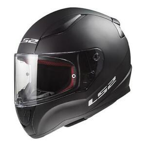 3XL XXXL LS2 Rapid Full Face Road Motorbike Helmet Matt Black