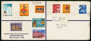 Mayfairstamps ZAMBIA FDC 1964 COVER BOY SCOUTS COMBO wwi95323