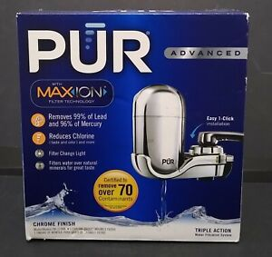 PUR Maxion PLUS white Triple Action faucet water filtration system + 1 filter
