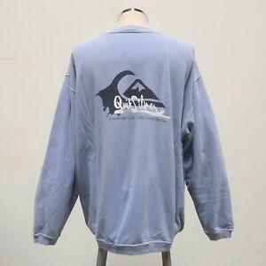 Vintage 90s Quicksilver Logo Crewneck Sweatshirt Size XL Surf Sun Faded