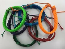 Leather Bracelets - Orange