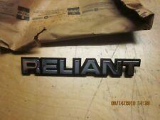1981-83 RELIANT NAME PLATE NOS