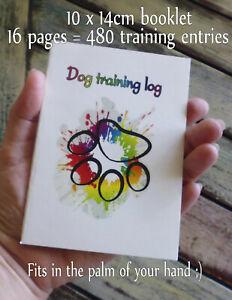 Dog Training Log Book