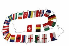 "22 EURO CUP MEDIUM 8"" X 12.5"" INCH FLAG BANNER BUNTING .. NEW"