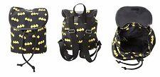 DC Comics Batman Logos Mini Slouch Backpack Bookbag Back to School NWT