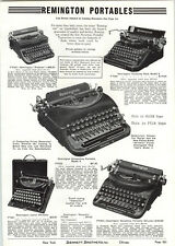 1939 PAPER AD Remington Portable Typewriter Noiseless Corona Zephyr Smith Corona