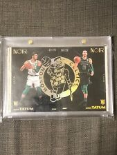 Jayson Tatum (2) 2017-18 Noir Rookie RC Base Gold /25 Complete Set Lot