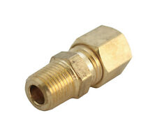 "Jmf Compression Connector 5/16 "" Tube X 1/4 "" Mpt Yellow Brass 400 Psi Lead Free"