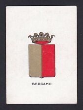 BERGAMO CITTÀ 204 STEMMA ARALDICA FIGURINA BRIOSCHI anni '20 SERIE 1.ᴬ - n° 19