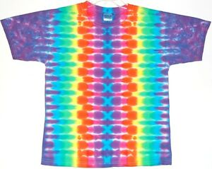 Youth TIE DYE Neon Rainbow DNA T Shirt kids 2-4T 6-8 10-12 14-16 grateful dead