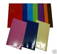 A4 SHEETS GLOSS PKS OF 20,10,5 OR 3 SELF ADHESIVE STICKY BACK PLASTIC SIGN VINYL