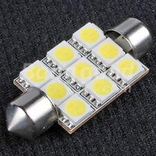 31mm 9 LED Festoon Light Bulb White Car Interior Roof Globe Glove 32mm 30mm