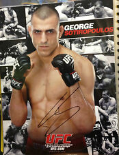 UFC GEORGE SOTIROPOULOS SIGNED PROMO CARD
