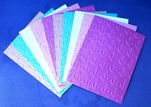 10 ANCHORS Embossed A2 Card Fronts with Recollections Cool Waters Cardstock