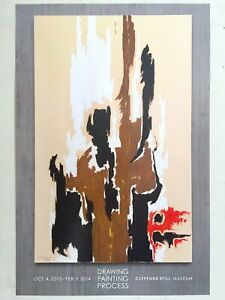 "CLYFFORD STILL ABSTRACT EXPR RARE LITHOGRAPH PRINT EXHBTN POSTER "" PH -23 "" 1944"