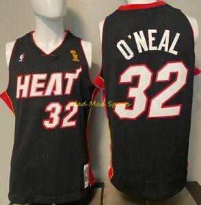 SHAQUILLE O'NEAL Mia Heat 2006 NBA FINALS Mitchell & Ness SWINGMAN Jersey S-XXL