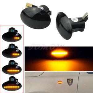 LED Sequential Side Marker Light For Fiat 500 Ford KA 2009+ Alfa 4C 2013+ Lancia