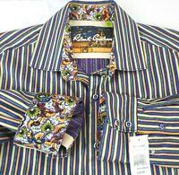 Robert Graham mens 2XL Grand Central Sport Shirt Multicolor MSRP $228 NWT stripe