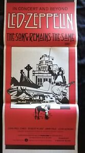 Led Zeppelin The Song Remains The Same Original Australian Daybill Movie Poster