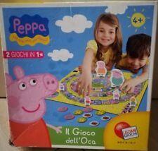 Il Gioco dell'Oca di PEPPA PIG Lasciani 2 Giochi in 1 NUOVO Originale Anni 4+